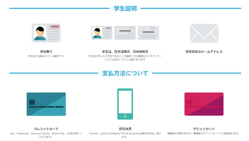Amazonプライム Amazon Student 特典 登録方法