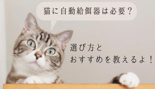 猫に自動給餌器は必要?選び方とおすすめ教えます│餌をあげる他にも便利な機能が!